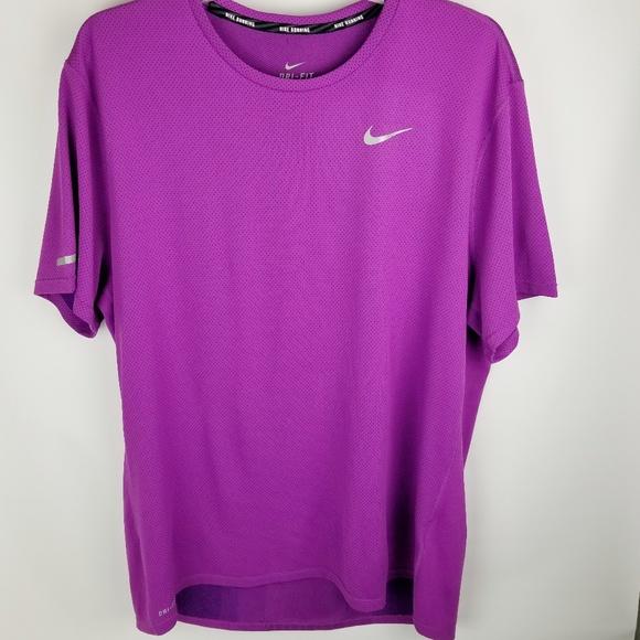 Nike running purple men's t-shirt Dri-fit NEW XL